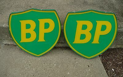 Vintage BP Gas Station Pump Signs matched pair