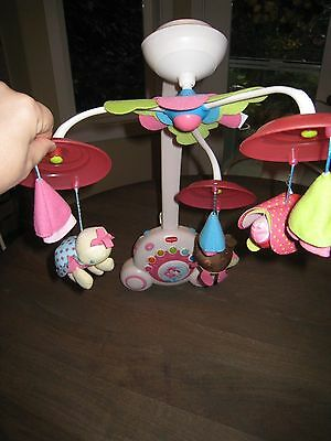 EUC Tiny Love Soothe 'n Groove Mobile, Tiny Princess in Pink - SIX SOUNDS!