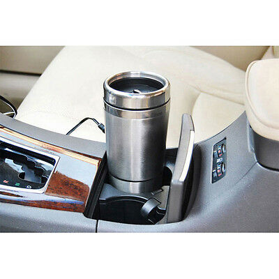 New 12V Stainless Steel Car Adapter Heated Travel Mug Thermos Heating Cup Kett