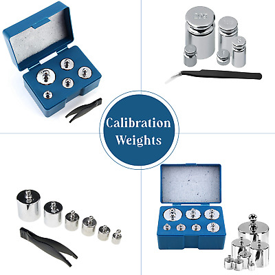Silver Nickel-Plated Steel Calibration Balance Weight for Digital Pocket Scales