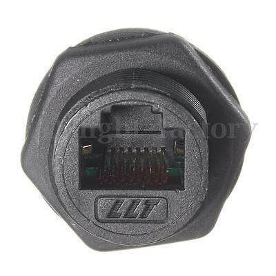 RJ45 IP68 Network Outdoor AP Waterproof Connector Durable 10mm Hole 8 Core NEW