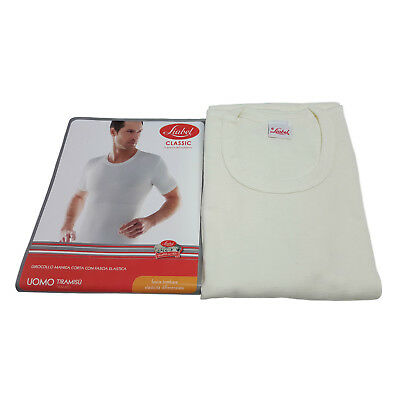 LIABEL knitted underwear man short sleeves with pancera elastic TIRAMISU'
