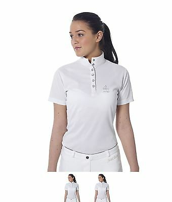 SPORTIVO Just Togs Dazzle Showshirt White