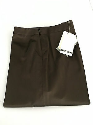 PERSONA by Marina Rinaldi women's trousers dark brown Made In Italy