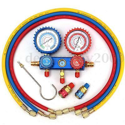 Car A/C Manifold Gauge Set For R134A Refrigerant Air Conditioning System 500PSI