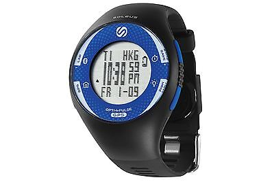 Soleus GPS Pulse BLE Watch Heart Rate Monitor Black/Blue