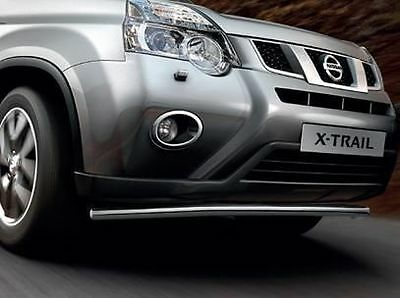 Nissan X-TRAIL Mk4 2011-2014 GENUINE City Bar, Front Bar Stainless Steel