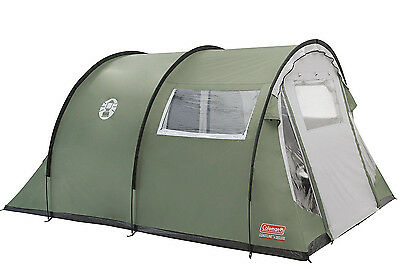 Coleman Coastline 4 Deluxe Tunnel Tent 4 Man Person Family Camping Holiday, NEW
