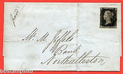 "SG. 2. A1 (2). AS5. "" FF "". 1d black. Plate 1b. A fine used example on cover."