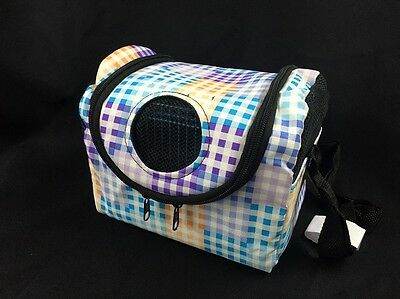 Sugar Glider Squirrel Rat Bird Small Pet 2in1 Shoulder Carries Bag With Cage