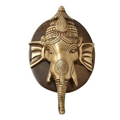 RELIGIOUS EDH Ganesh Head Face Door Knocker Brass Hindu God Ganesha Door Knocker