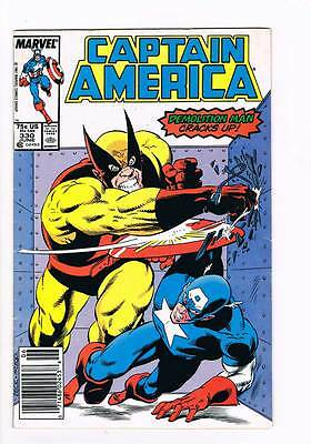 Captain America # 330 Night Shift ! grade 6.0 scarce book !!