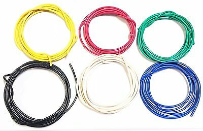 16 ga Gauge AWG Black Red Yellow White Green Blue Car/Alarm Primary Wire 12V 30'