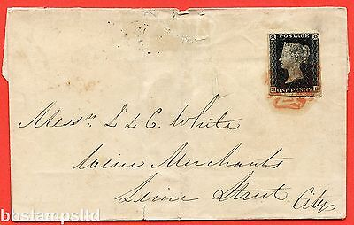 "SG. 2. A1 (2). AS46. "" MD "". 1d black. Plate 8. A fine used example on cover."