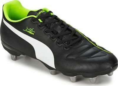 Mens PUMA EvoPower 4 Low Cut Soft Ground H8 Stud Rugby Boots Sizes 6.5 to 12