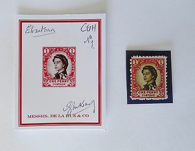 Gerald King Elizatoria CAPE of GOOD HOPE Proof and Mint Cinderella Stamp No 1