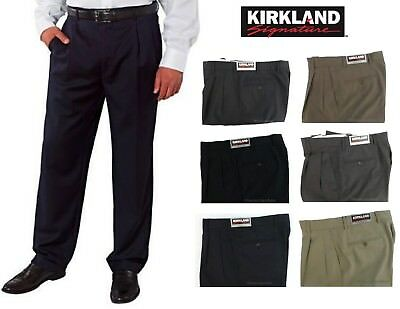 Kirkland Signature Men's Italian Wool Dress Pants