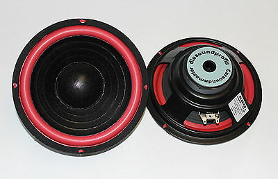 "2x 20cm 8"" Bass Subwoofer 200mm Tieftöner Auto + Hifi 4Ohm DYH-810 PAAR"