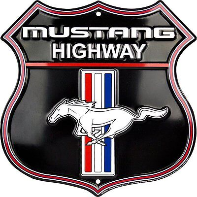 Ford Mustang Highway Shield Parking Sign Man Cave Den Garage