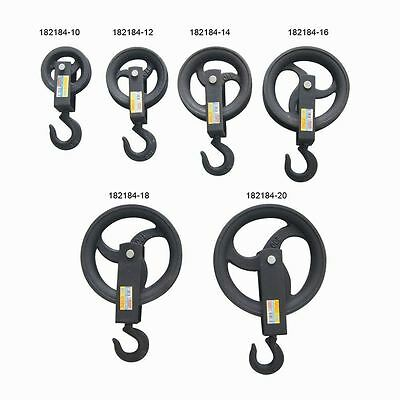 Contractor Scaffolders Hand Block Lifting Rope Wheel Pulley With Bearings
