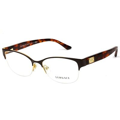 New Authentic Versace Brown Optical Eyeglasses Frame MOD1222 1344 Made in Italy!