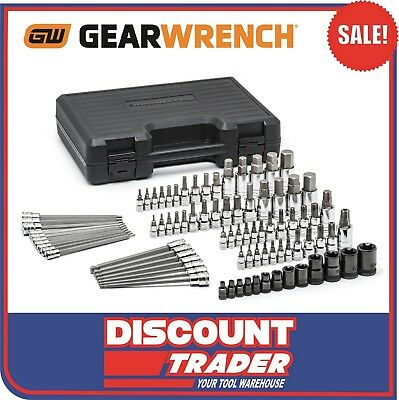 GearWrench 84 Piece Master SAE/Metric Hex and Torx® Bit Socket Set - 80742