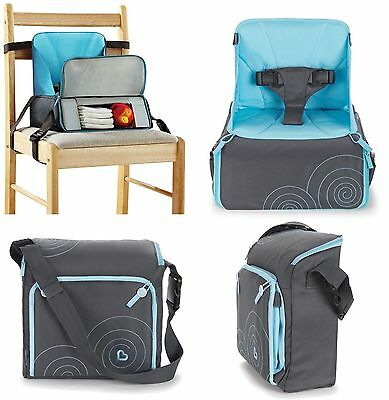 Munchkin Booster Seat Highchair Travel Feeding Portable Storage Compact Pack