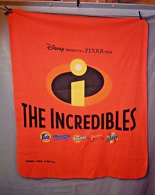 NEW 2004 DISNEY/PIXAR The INCREDIBLE'S PROMO Fleece BLANKET