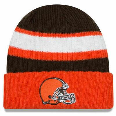newest f0070 acc48 SALE 50% OFF New Era NFL Cleveland Browns 2 Ribbed Stripped Cuff Beanie
