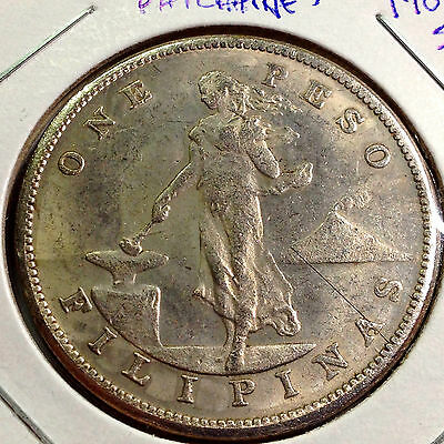 1907-S Philippines/united States Silver Peso Crown Coin
