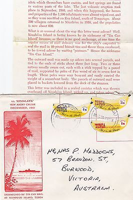 Stamps 1971 Tonga on S.S Iberia ship Christmas cruise to Brighton Australia