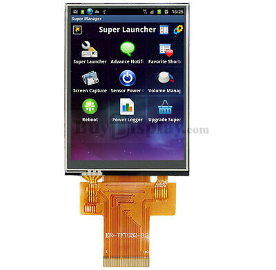 """Serial SPI 3.2""""TFT LCD Module Display,ILI9341 w/Resistive Touch Panel,Tutorial"""
