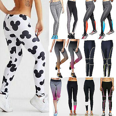 Women High Waist Yoga Fitness Leggings Running Gym Stretched Sport Pant Trousers