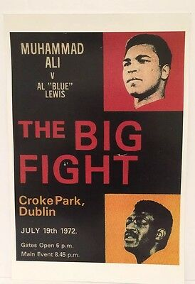 """MUHAMMAD ALI vs. AL """"BLUE"""" LEWIS """" THE BIG FIGHT"""" POSTER:EXTREMELY RARE PRINT!"""