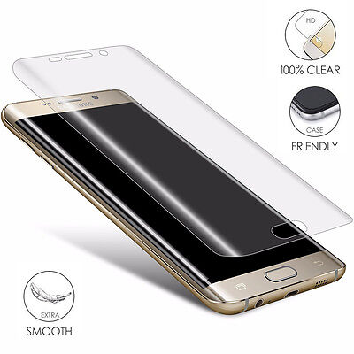 3D Front Full Cover HD Screen Protector Film PET For Samsung S7 S6 Edge Plus