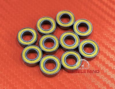 [5 PCS] MR148-2RS MR148RS (8x14x4 mm) YELLOW Rubber Ball Bearing Bearings 8*14*4