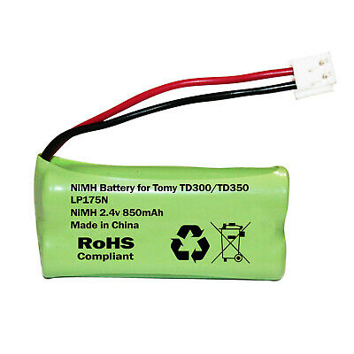 TOMY TD300 or TD350 DIGITAL BABY MONITOR RECHARGEABLE BATTERY 850mAh LP175N 2.4v