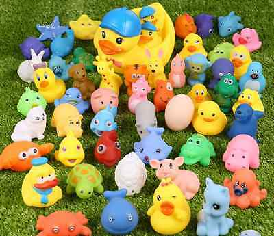 12 pcs/Lot Mixed Different Cute Animals Children Kids Baby Bathing Swimming Toys