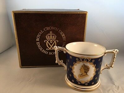 Royal Crown Derby Ltd Edition of 500 Boxed Loving Cup Queen Mother 80th Birthday