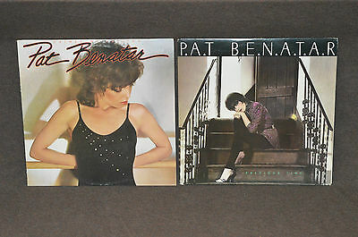 PAT BENATAR 2 LP LOT VINYL ALBUMS COLLECTION Precious Time & Crimes of Passion