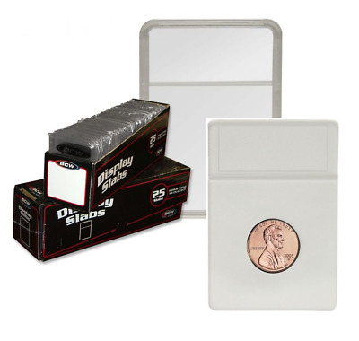 (5) BCW Premium Penny Coin Display Slab Holder with White Foam Inserts 19mm