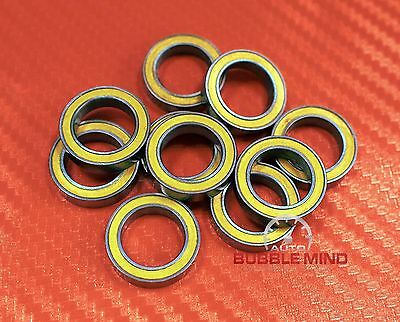 [5 PCS] 6701-2RS 6701RS (12x18x4 mm) YELLOW Rubber Ball Bearing Bearings 12*18*4