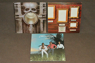 EMERSON LAKE & PALMER 3 LP LOT VINYL ALBUMS COLLECTION ELP PROG Brain Salad/Love