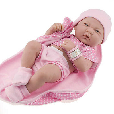New Berenguer *  18541 * La Newborn Real Girl 14 Inch Doll Pink Polka Dot Romper