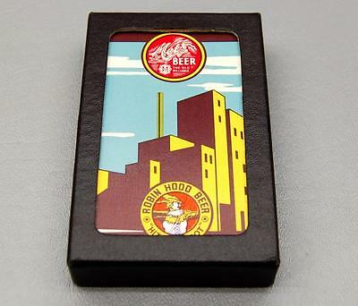 Vintage Omaha Metz Brewery Robin Hood Beer Playing Cards - Rare Pinochle Deck