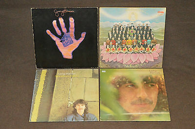 GEORGE HARRISON 4 LP RECORD ALBUM LOT COLLECTION Dark Horse/Material World/1979
