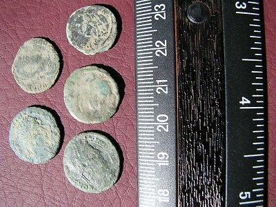 5 HQ Ancient Roman coins + 4 oz. Mint State Restoration Coin Cleaner   M107