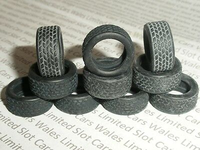 Scalextric - W8204B Front Tyres for 1990s Saloons with Roadtread x10 - NEW