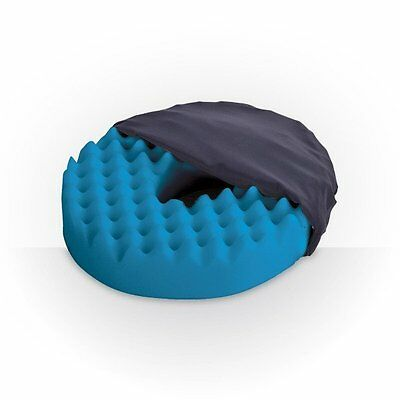 Convoluted Ring Cushion - Foam Rubber Donut Pillow for Tailbone and Coccyx Area