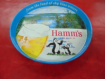Hamm's Beer Tray hamms metal serving tray 1970's